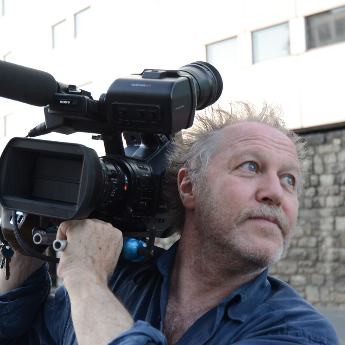 Sur le tournage de « La Maison de la radio », © Linda De Zitter, 2011